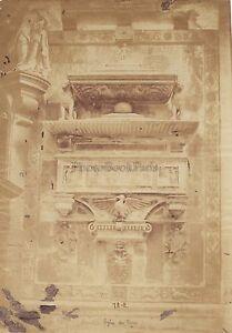 Santa-Maria-Dei-Frari-Tombeau-Venezia-Italia-Vintage-Albumina-Ca-1860