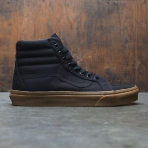 Vans-Sk8-Hi-Reissue-Canvas-Skate-Shoes-Men-039-s-Size-10-Black-Gum