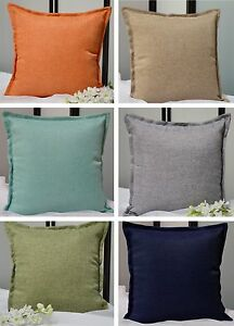 Throw Pillow Covers Made In Usa : Solid Faux Linen Throw Pillow COVER, Multi-Color, Made in USA eBay