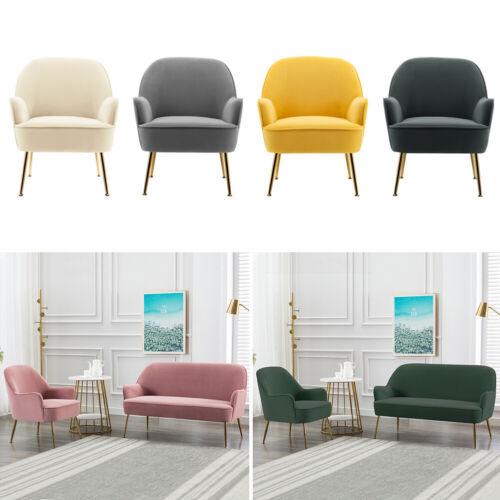 1/2 Seater Modern Velvet WingBack Sofa Bedroom Living Room Leisure Sofa Pink,Yellow,Green,Grey,Creamy white,Dark grey