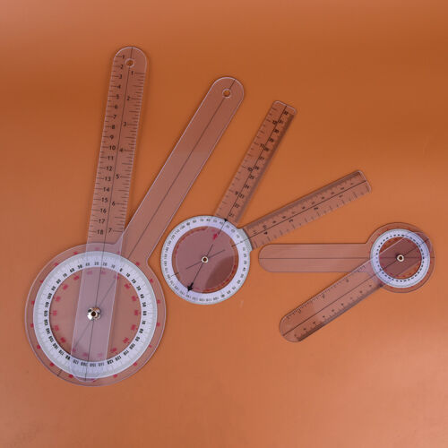 3x//set 6//8//12inch 360 degree protractor angle medical ruler spinal goniometer-ZF