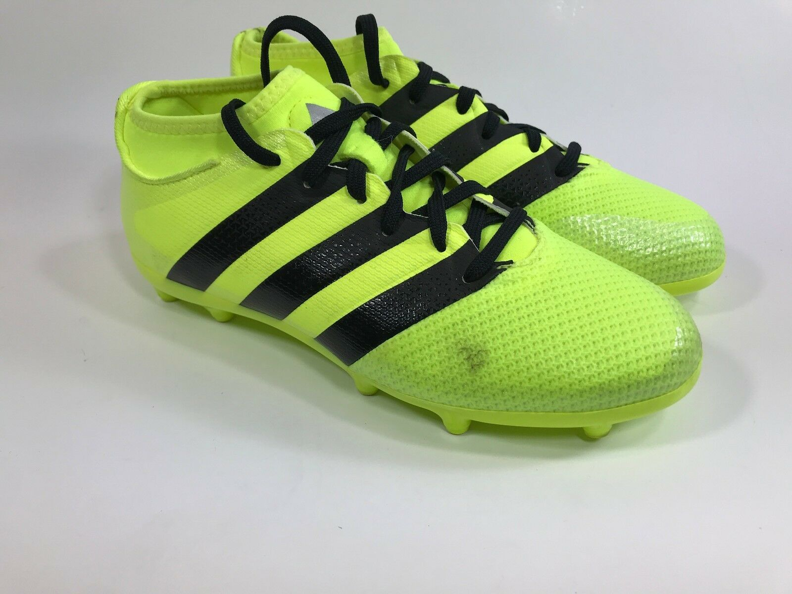 f807b19cd08 Adidas Ace 16.3 Primemesh FG Kids Soccer Cleats Neon Yellow Size 4.5 ...