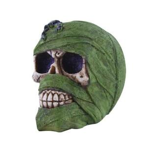 Resin-Skull-Statue-Human-Head-Sculpture-Figure-Home-Decor-Holiday-Gift