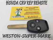FITS HONDA CRV 3 BUTTON KEY REMOTE + NEW UNCUT KEY O/S ID48 CHIP BRISTOL