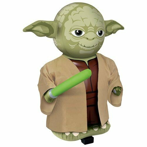 STAR WARS RADIO CONTROL INFLATABLE YODA YODA YODA WITH SOUNDS 68CM BRAND NEW REMOTE 7684cb