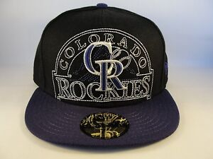 MLB-Colorado-Rockies-New-Era-59FIFTY-Fitted-Hat-Cap-New-Mixin-Black-Purple