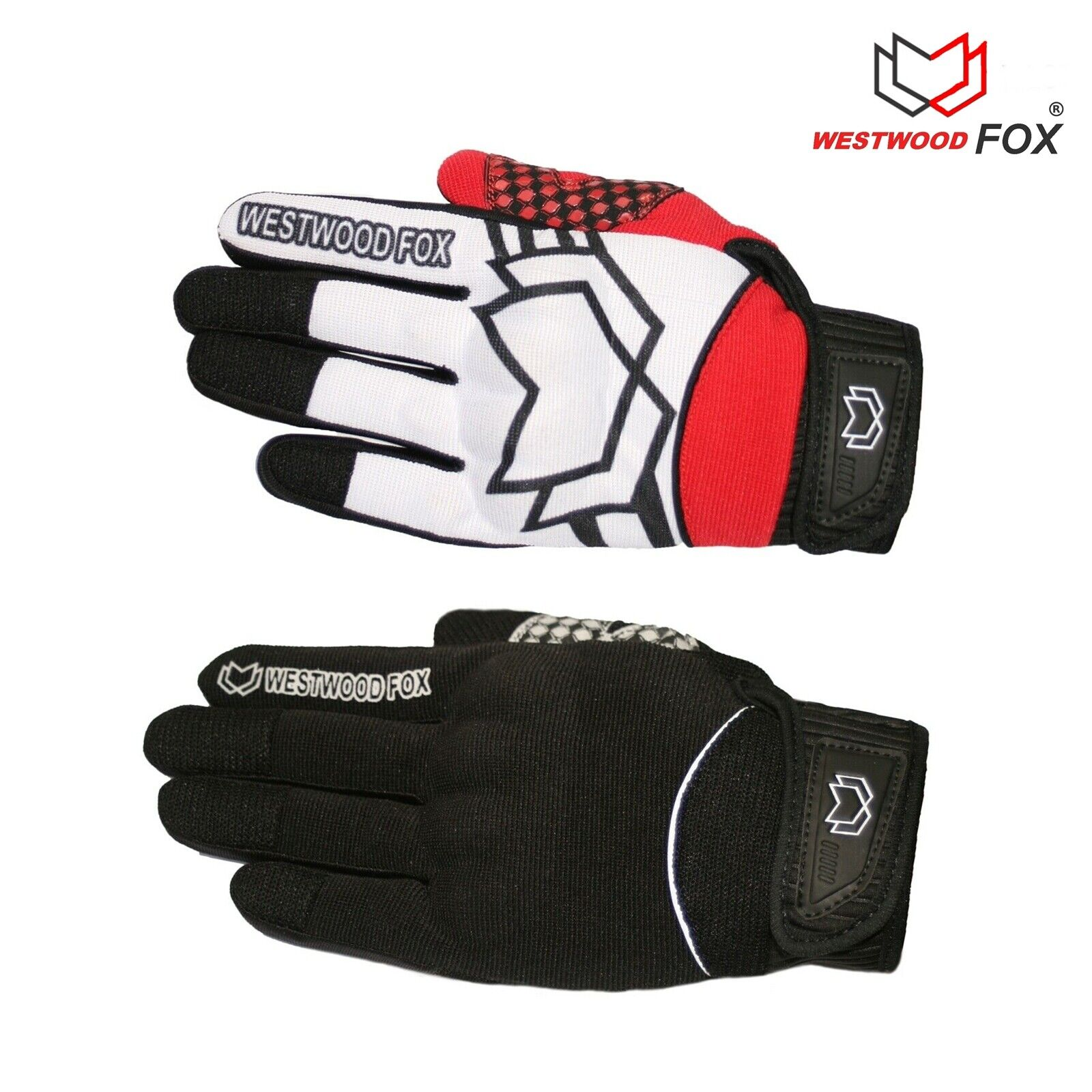 WFX All Motorcycle Motorbike Gloves Touch Screen Knuckle Protection Riding