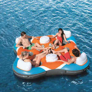 Bestway-CoolerZ-Inflatable-Pool-Float-Rapid-Rider-Quad-Lounger-Swimming-Mat