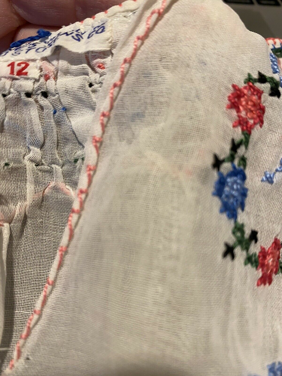 Vintage Antique 1920s Embroidered Hungarian Peasa… - image 8