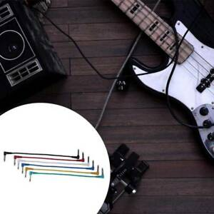 6pcs guitar patch cable bass guitar instrument effects pedal audio cable cords 777695892646 ebay. Black Bedroom Furniture Sets. Home Design Ideas