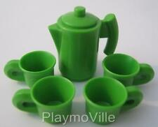 Playmobil Tea/coffee pot with cups NEW extras for dollshouse/cafe/shop sets