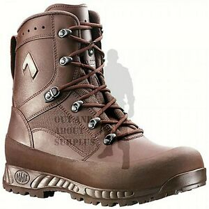Details zu Mens HAIX Combat High Liability Boots British Army Issue Brown Leather Cadet