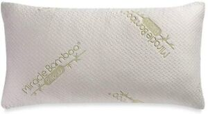 Queen Size Memory Foam Pillow w// Bamboo Viscose Cover Miracle Bamboo Pillow