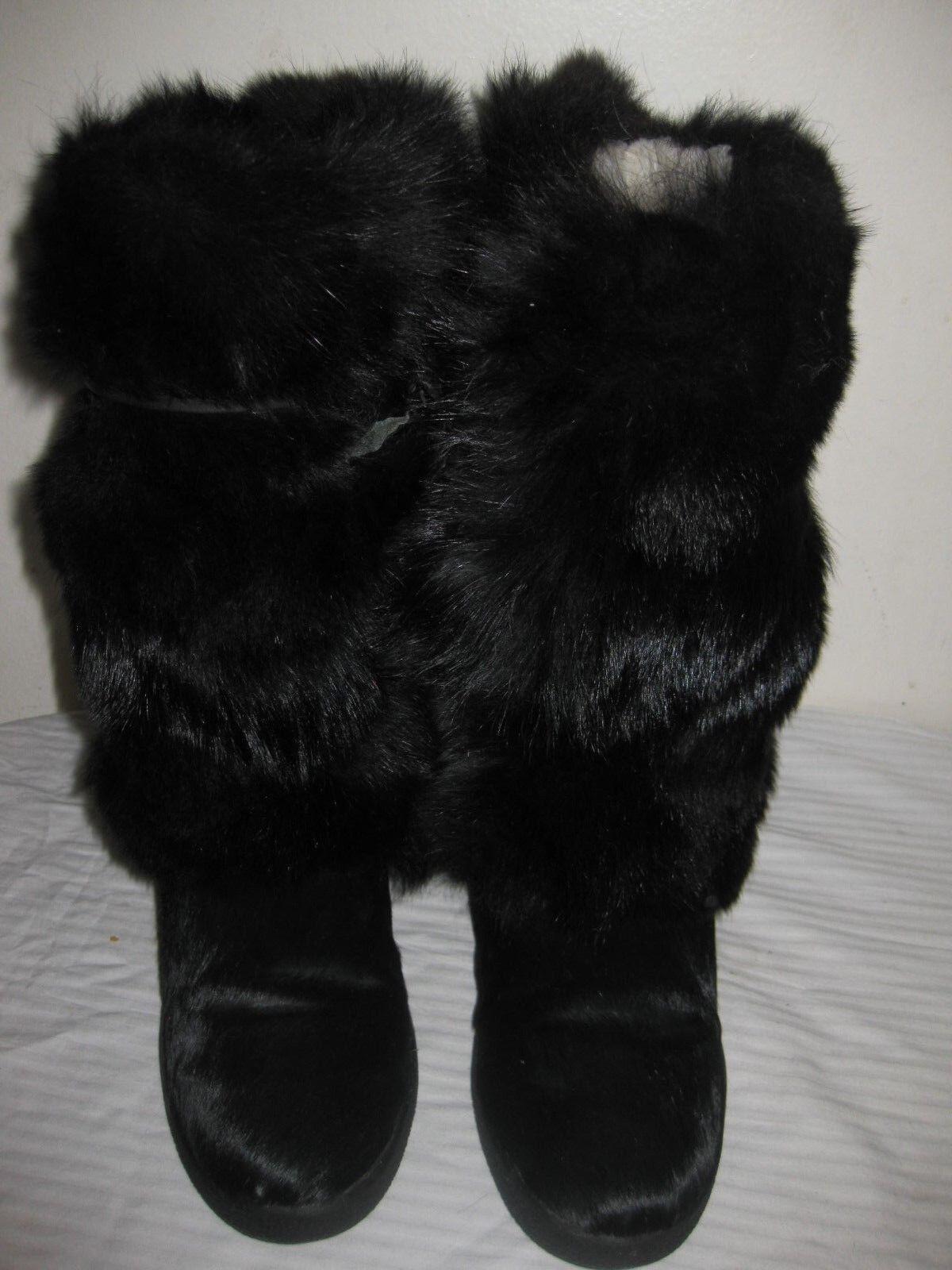 L'ELISA APRES SKI FUR  DONNE WEDGE stivali mostra la Dimensione 38 RUN SMALL FIT US 6.5  negozio d'offerta