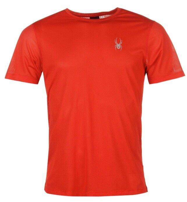 Spyder Alpine Camiseta Hombre red silver Todas sizes Nuevo con Etiquetas