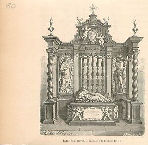 Cathedrale-Saint-Bavon-de-Gand-Sint-Baafskathedraal-GRAVURE-ANTIQUE-PRINT-1880