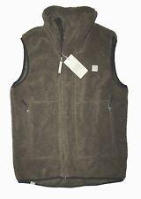 Bench - Mens XXL - NWT - Army Brown Asymmetrical Zip Sherpa Fleece Vest Jacket