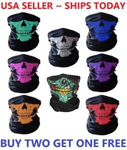 Balaclava Mask Skull Face Biker Dust Weather Motorcycle Neck Winter Sport Helmet