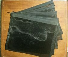 Mary Kay Black Mesh Zippered Bags Lot of 4 Cosmetic Bags Consultant Organizer