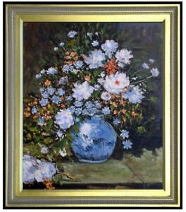 Framed-Hand-Painted-Oil-Painting-Repro-Renoir-Pierre-Spring-Bouquet-20x24in