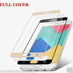 Full Colour Front Screen Protector Tempered Glass for Samsung Galaxy Models