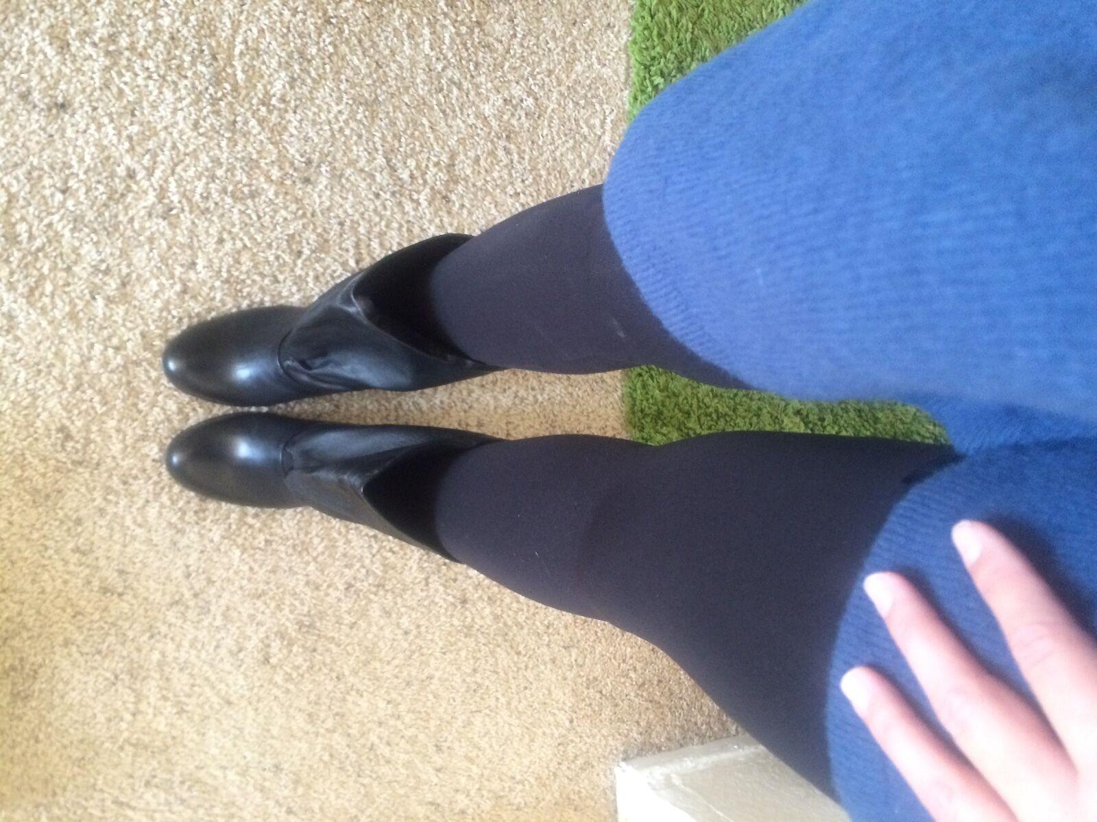 PRADA ITALY RUNWAY BLACK SHORT LEATHE DRESSY HIPPIE SLUCH SHORT BLACK Stiefel 39 $1500 WEAR 2x c64467