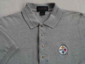 ec56cf6e0 NFL pittsburgh Steelers Men s Short Sleeve Gray polo Shirt by ...