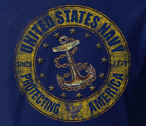 US-Navy-USN-Distressed-Protecting-America-LONG-SLEEVE-NAVY-Adult-T-shirt