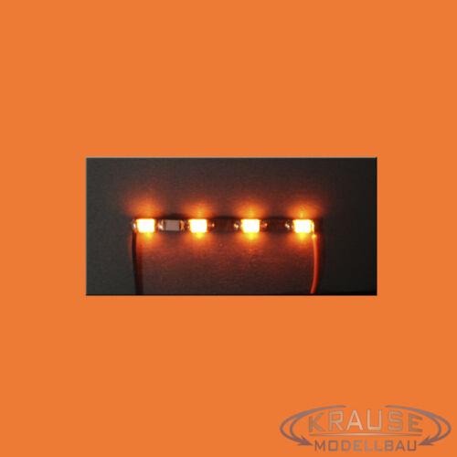 Miniatur Lichtleiste 4 SMD LEDs Typ 0805 orange Modellbahn Kirmes Modellbau
