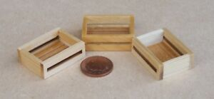 1-12-Scale-3-Medium-Size-Wooden-Trays-Boxes-Crates-Tumdee-Dolls-House-Shop-A