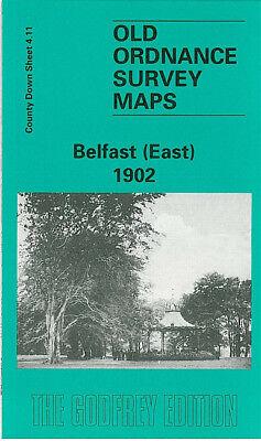 OLD ORDNANCE SURVEY MAP BELFAST EAST 1902 ORMEAU PARK CASTLEREAGH ROAD