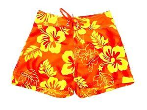 3f902d13f3 Hawaii Women's Orange Yellow Floral Board Shorts Surf Swim Shorts ...