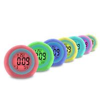 Digital Backlight LCD Display Table Alarm Clocks Snooze Thermometer Calendar