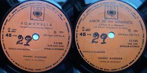 GIANNI NAZZARO ROMANELLA 1976 1/1 STAMPERS SPANISH-SUNG RARE CHILEAN PRESS ONLY!