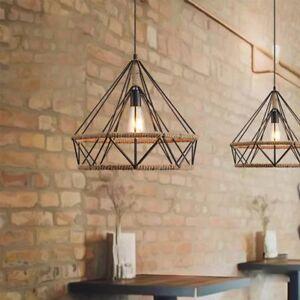 Industrial lighting chandelier Caged Pendant Image Is Loading Industrialretrocreativediamondpendantlamp ceilinglight Ebay Industrial Retro Creative Diamond Pendant Lamp Ceiling Light