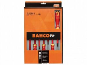 Bahco BAH220007 FIT Insulated Screwdriver Set of 7 Slotted Phillips