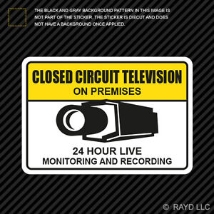 Warning CCTV Closed Circuit Television Sticker Decal ...