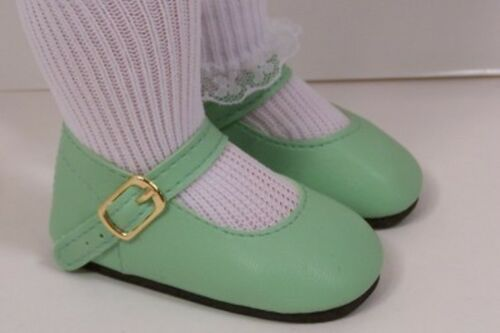 "Debs LT GREEN Basic LL Doll Shoes Fits 18/"" Effanbee Katie Dolls"