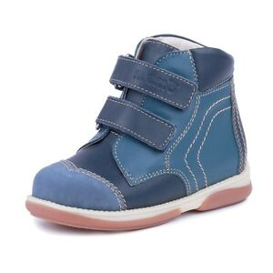 Memo Karat orthopedics goat leather navy blue ankle support little boys shoes