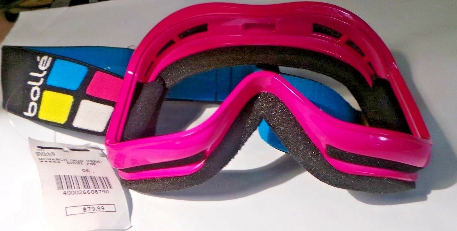 BOLLE MONARCH SHINY SKI GOGGLE REPLACEMENT FRAME PINK