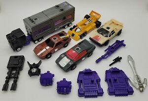1986 Transformers G1 Stunticons Menasor Lot! *Incomplete* *Read*