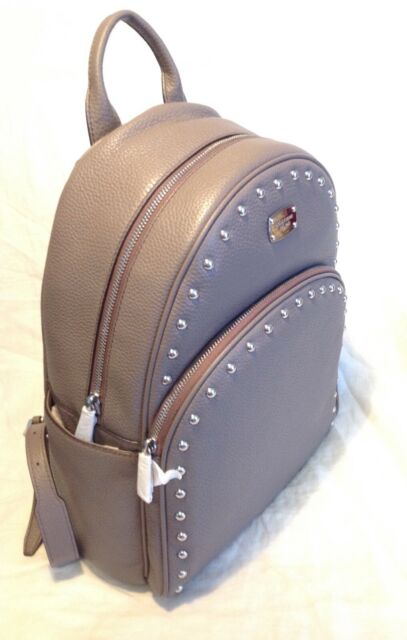1cebb3d52ad5 Michael Kors Abbey Cinder Grey Leather Studded Backpack 38f7xayb7l ...