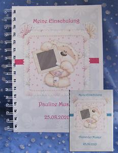Gaestebuch-Schulanfang-Einschulung-1-Schultag-Schulkind-Geschenk-Karte-Teddy