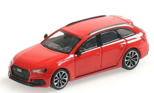 Minichamps 870018212 Audi RS4 Avant 2018 rot HO 1:87 NEU