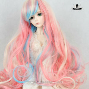 7-8-034-MSD-Wig-1-4-BJD-Wig-Dollfie-DREAM-SOOM-AOD-Dod-EID-Wig-Mix-pink-hair-121