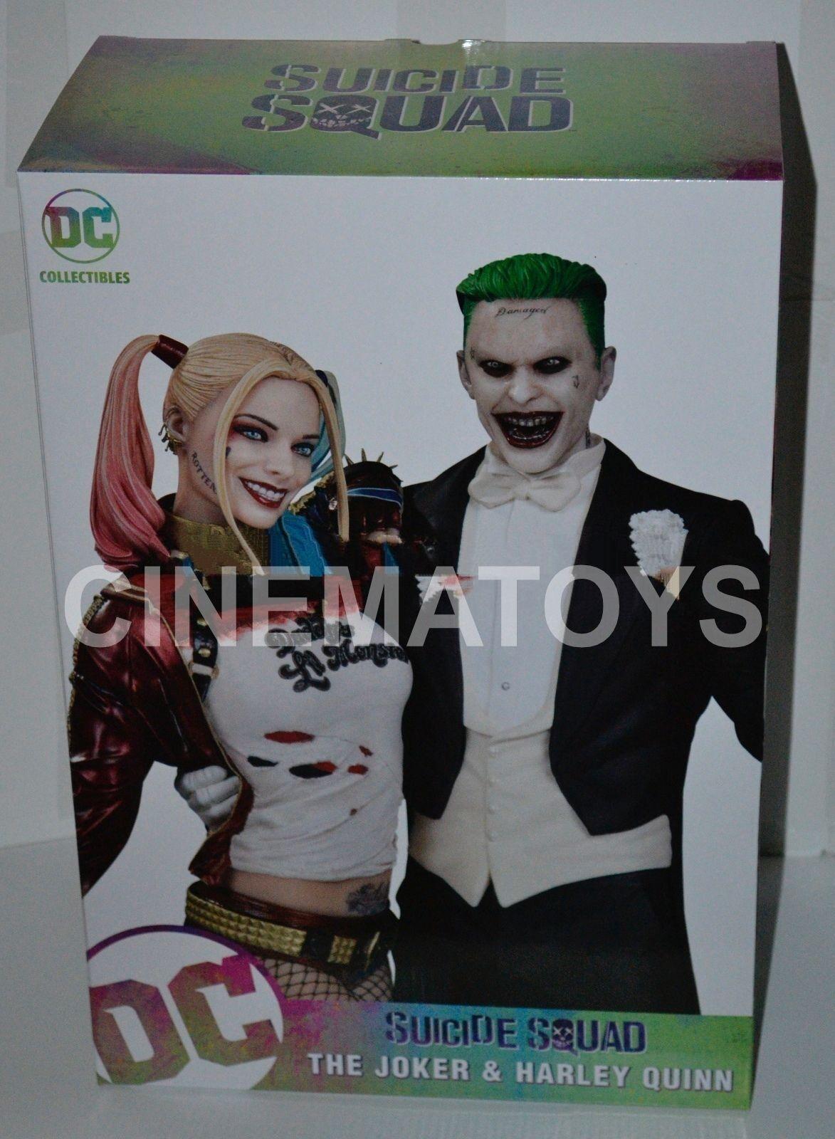 Suicide Squad Movie Joker Jarouge Leto & Harley Quinn Margot Robbie Statue Dc