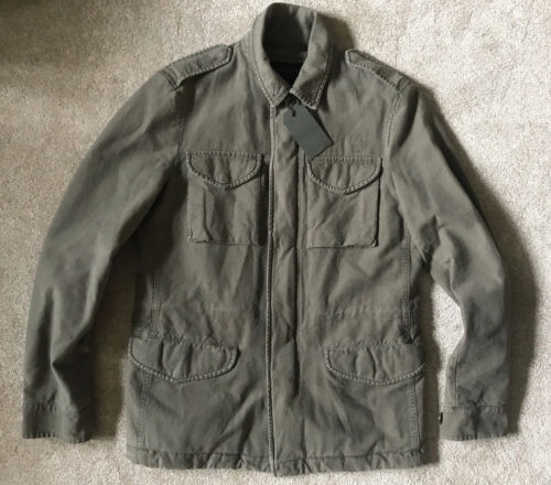 "NEW /& TAGS ALL SAINTS KHAKI GREEN /""PEARCE/"" WARM UTILITY COAT JACKET SMALL"