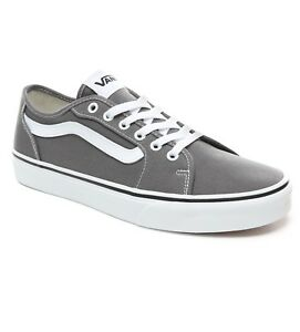 b5d67618e86bf6 VANS Filmore Decon Stripe Canvas Fashion Skater Shoe Trainers Pewter ...