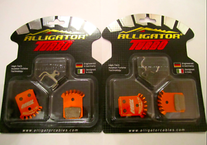 Alligator TURBO Finned Pads for Formula Mega The One R1 RX 2 pairs + springs