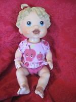 2009 Hasbro Baby Alive Doll Interactive Talks Blonde Molded Hair